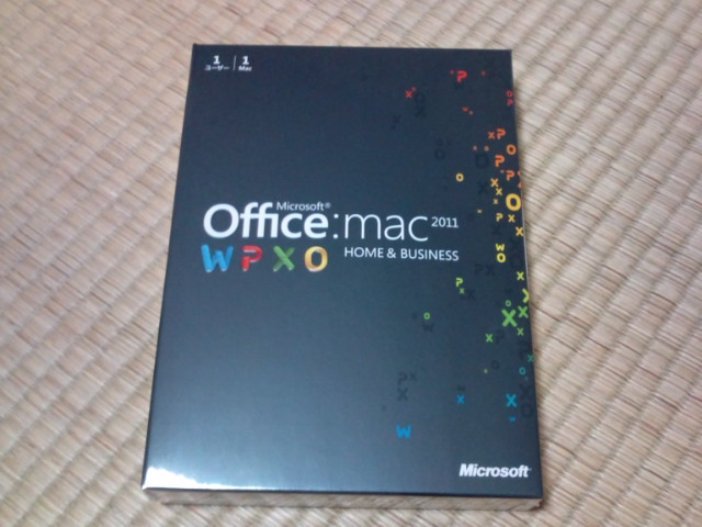 Microsoft Office for Mac 2011購入